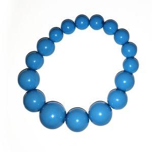 Carolina Sky Blue Beaded Slipon Bracelet